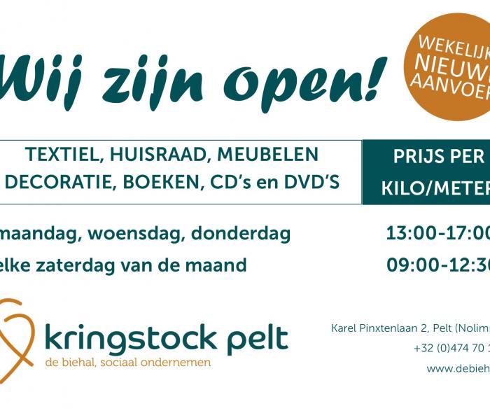 Kringstock Pelt vanaf maart elke zaterdag open
